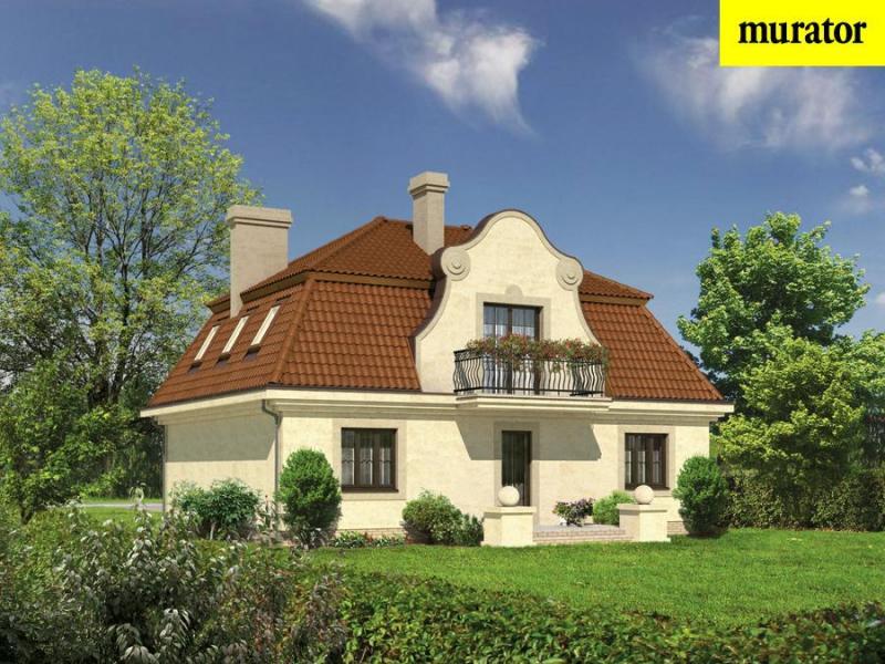 Проект одноэтажного дома с мансардой - муратор м58 rpm1863 в.